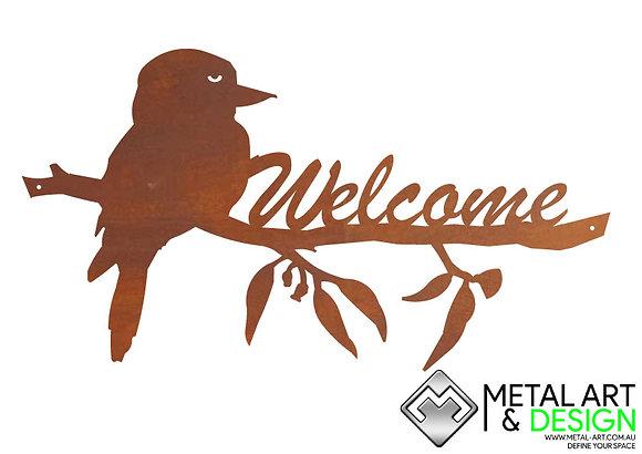 kookaburra welcome sign