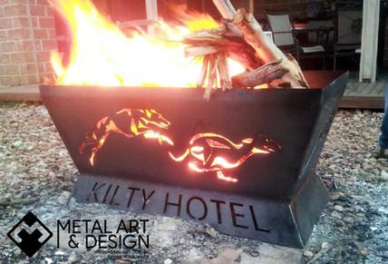 Custom made fire pit