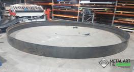 Large corten garden ring