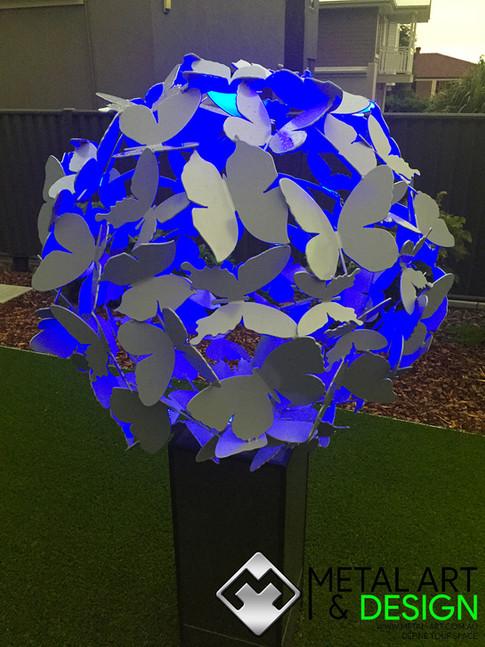 butterfly-sphere-blue-light-powdercoated