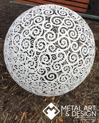 Swirls sphere - powder coated