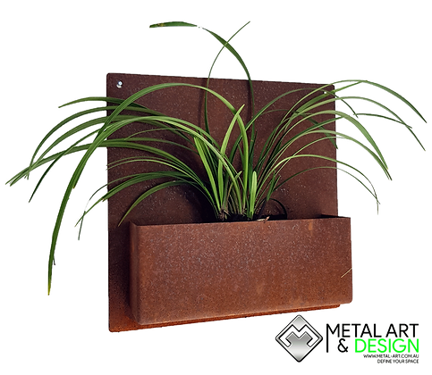 Square wall planter