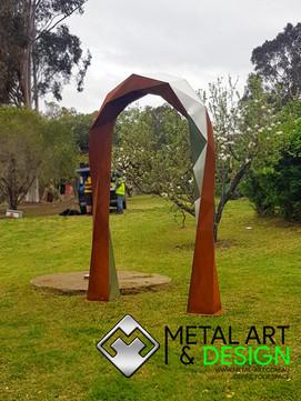 Corten & Stainless steel archway
