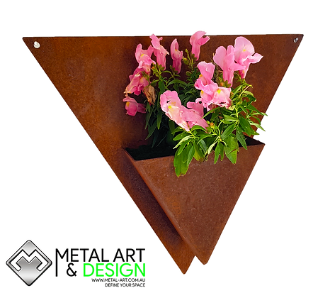 Triangle wall planter