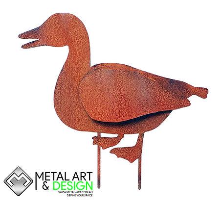 Duck garden stake