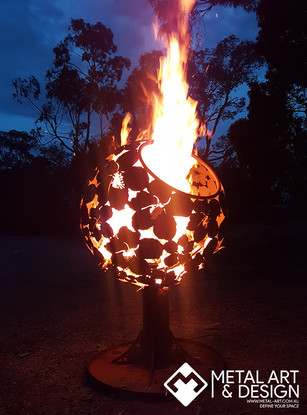 Hibiscus sphere fire pit
