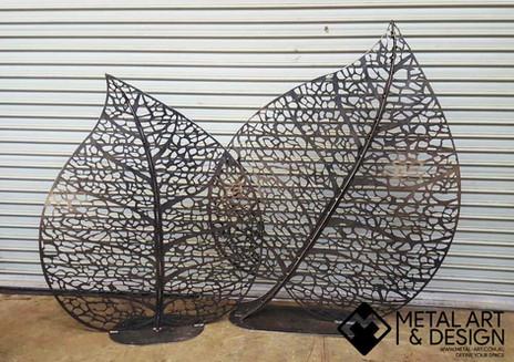 Skeleton Leaf sculpture