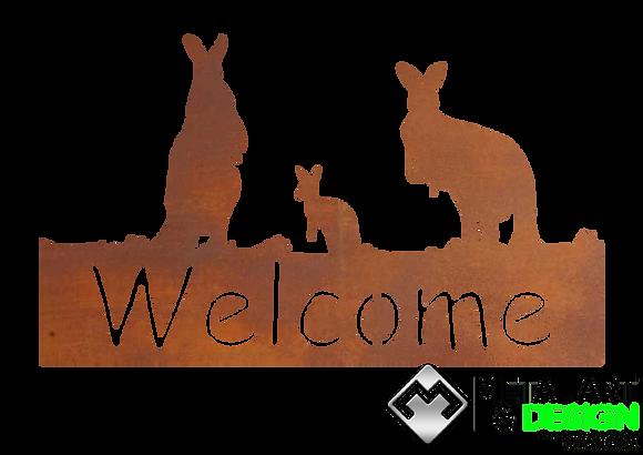 Kangaroo Welcome Sign