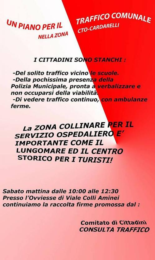 PIANO TRAFFICO ZONA COLLINARE CTO-CARDARELLI
