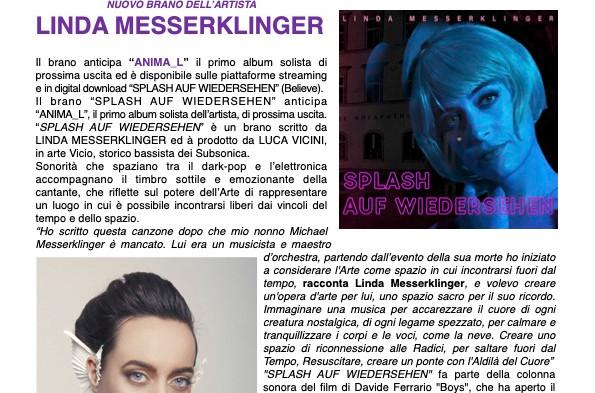 SPLASH AUF WIEDERSEHEN,  NUOVO BRANO DI LINDA MESSERKLINGER DISPONIBILE IN DIGITALE