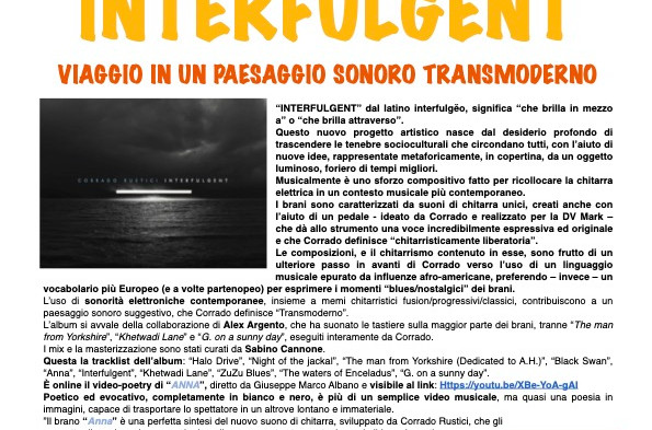 """""""INTERFULGENT"""" VIAGGIO IN UN PAESAGGIO SONORO TRANSMODERNO"""
