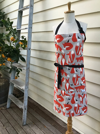 Foxes canvas Apron