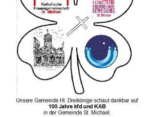 100jähriges Bestehen der kfd und KAB St. Michael
