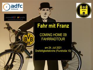 Fahr mit Franz - schwarzgelbe Fahrradtour