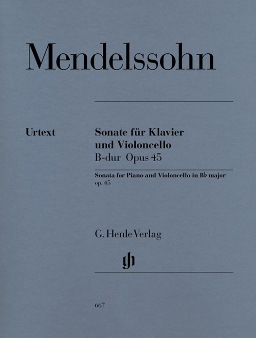 Mendelssohn: Violoncellosonate B-dur op. 45