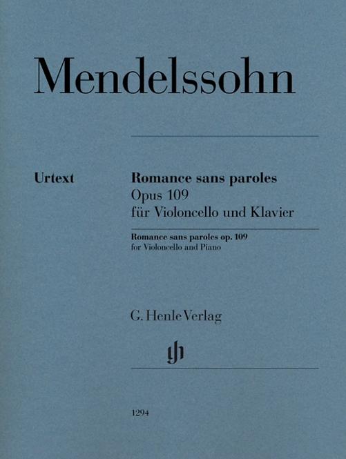 Mendelssohn: Romance sans paroles op. 109