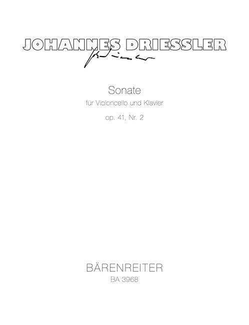 Driessler: Sonate für Violoncello und Klavier Nr. 2 op. 41