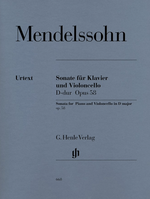 Mendelssohn: Violoncellosonate D-dur op. 58