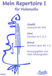 Mein Repertoire 1 für Cello - Werke von Vivaldi Cirri und Bréval