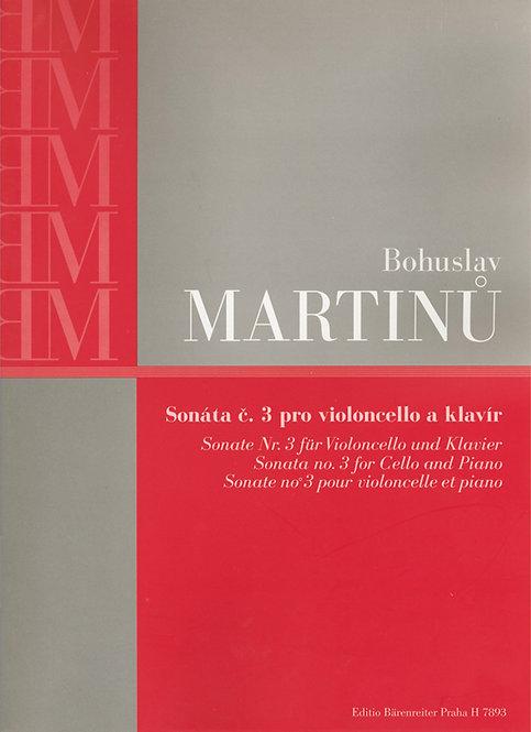 Martinu: Sonate für Violoncello und Klavier Nr. 3