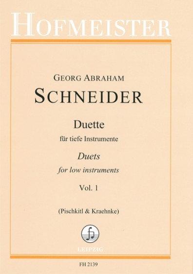 Schneider: Duette für Tiefe Instrumente. Heft 1