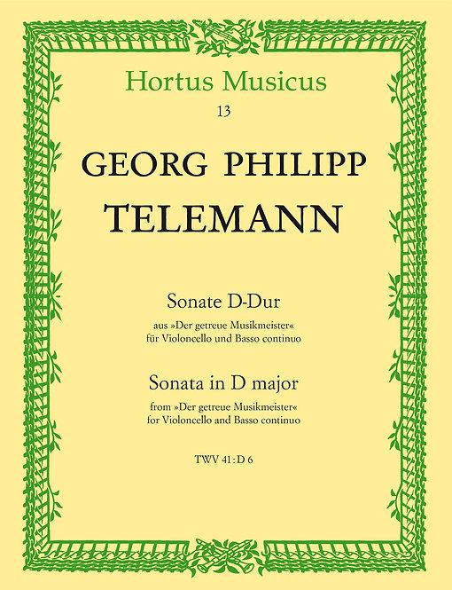 Telemann: Sonate für Violoncello und Basso continuo D-Dur TWV 41:D6