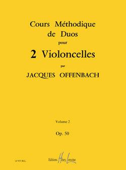 Cours méthodique de duos pour deux violoncelles Op.50 Vol.2