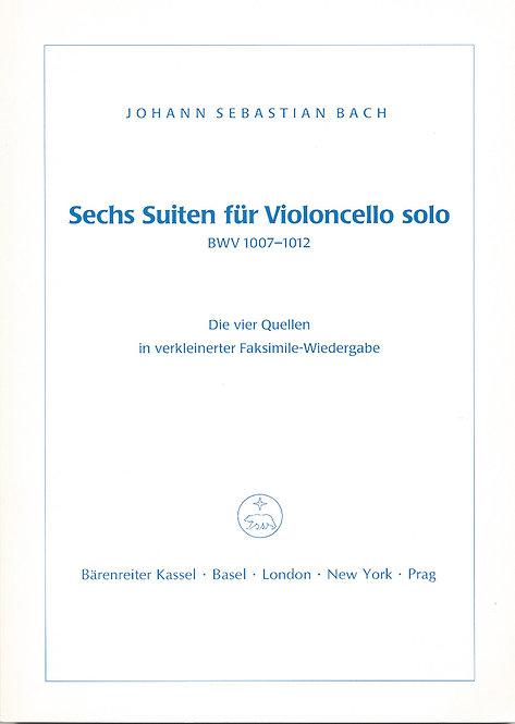 Bach: Sechs Suiten für Violoncello solo BWV 1007-1012 (Faksimile)