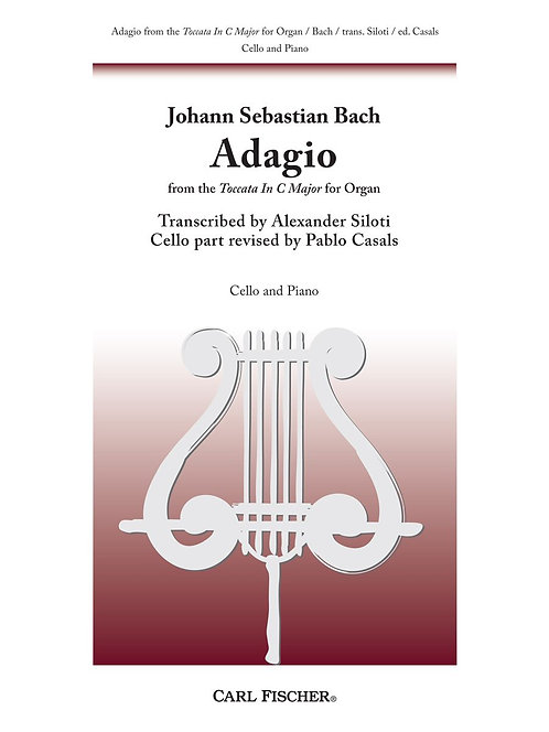 Bach: Adagio from Toccata in C major for Cello and Piano