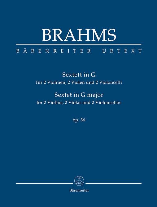 Brahms: Sextett für 2 Violinen 2 Violen und 2 Violoncelli G-Dur op. 3