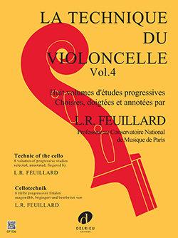 Feuillard: Technique du violoncelle Vol.4