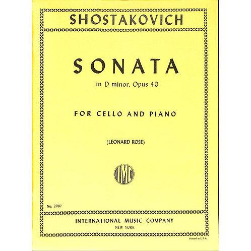 Schostakowitsch: Sonata in D minor. Opus 40
