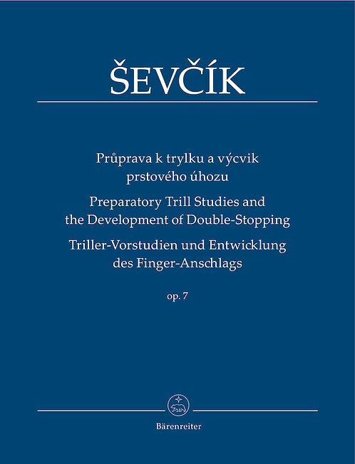Ševčík: Triller-Vorstudien und Entwicklung des Finger-Anschlags op. 7