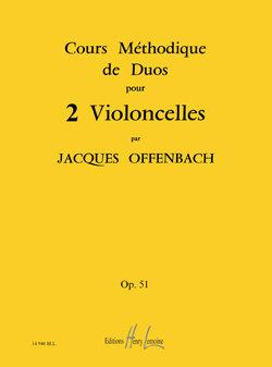 Cours méthodique de duos pour deux violoncelles Op.51