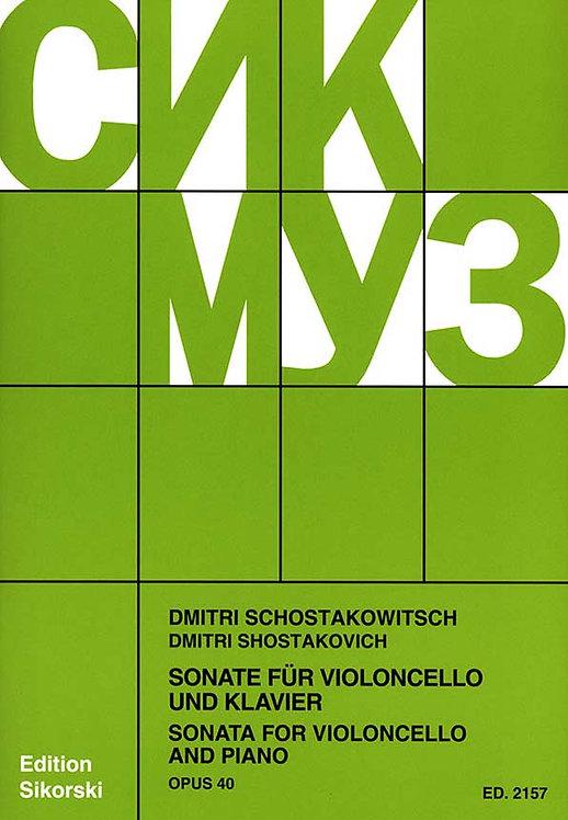 Schostakowitsch: Sonate op. 40 für Violoncello und Klavier