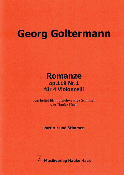 Goltermann: Romanze op.119 Nr.1 für 4 Violoncelli