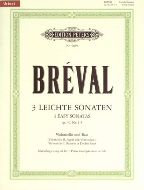 Bréval: 3 leichte Sonaten op. 40, Nr. 1-3