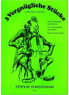 3 Vergnügliche Etüden für 2 Violoncelli und Klavier