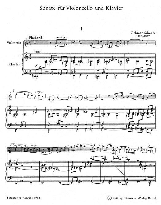 Schnoeck: Sonate für Violocello und Klavier