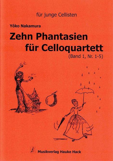 Nakamura: Zehn Phantasien für Celloquartett, Band I (Nr.1-5)