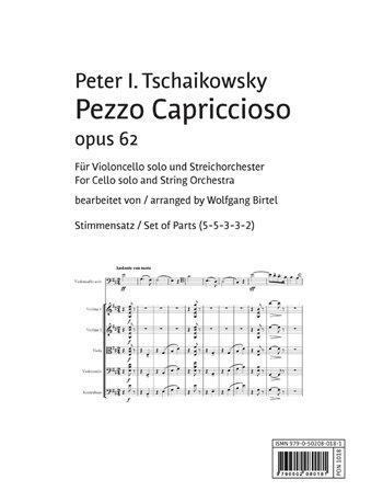 »Pezzo Capriccioso« op. 62 - Stimmensatz