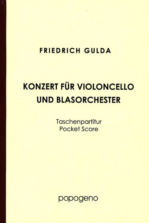 Gulda: Konzert für Violoncello und Blasorchester - Studienpartitur