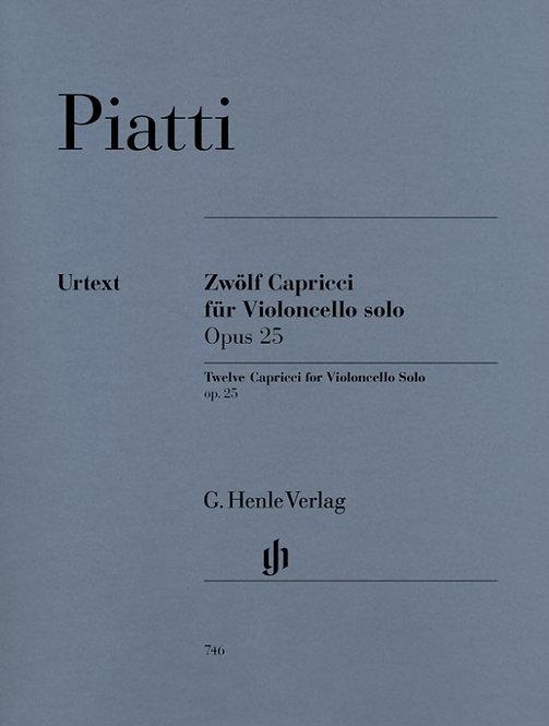Piatti: 12 Capricci op. 25 für Violoncello solo