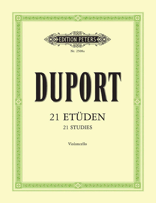 Duport: 21 Etüden für Violoncello§