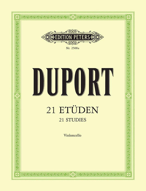 Duport: 21 Etüden für Violoncello