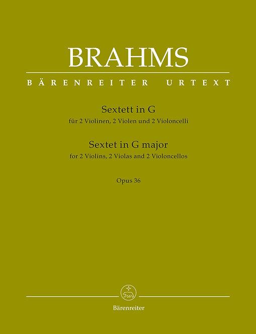 Brahms: Sextett für 2 Violinen 2 Violen und 2 Violoncelli G-Dur op. 36