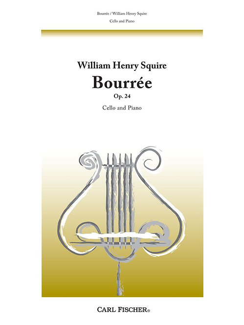 Squire: Bourée op. 24 for cello and piano