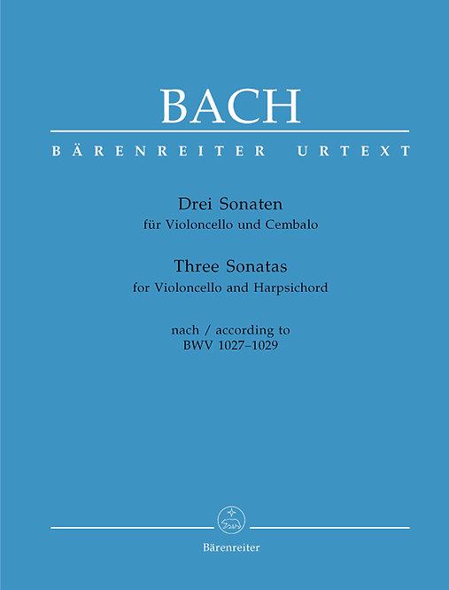 Bach: Drei Sonaten nach BWV 1027–1029 für Viola da gamba und Cembalo