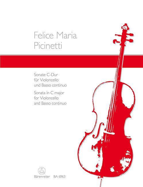 Picinetti: Sonate für Violoncello und Basso continuo C-Dur