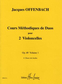 Cours méthodique de duos pour deux violoncelles Op.49 Vol.1